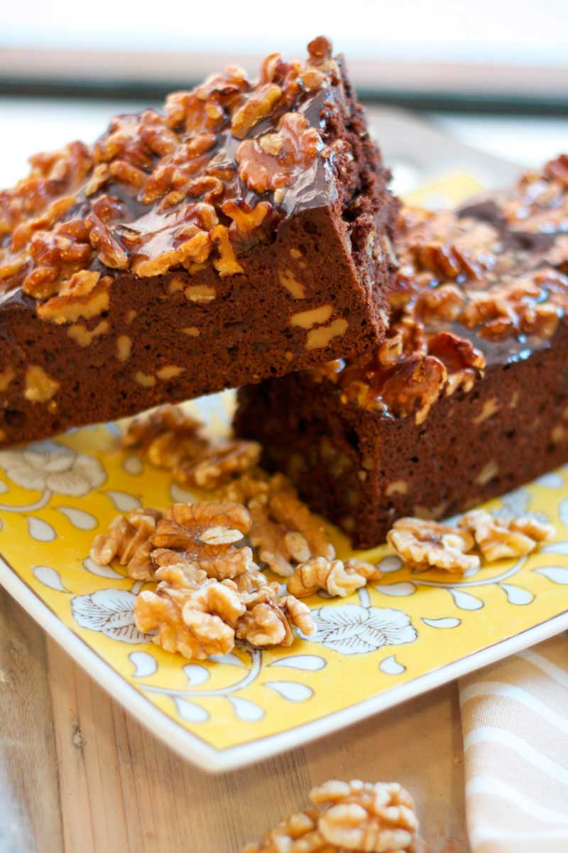 Brownie con nueces de ración